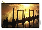 Old Pier At Sunset Carry-all Pouch