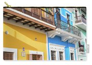 Old San Juan Houses In Historic Street In Puerto Rico Carry-all Pouch