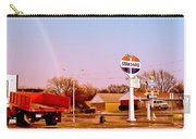 Old Signs At The Mother Road - Standard Oil And Motel - Route 66 Carry-all Pouch