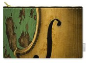 Old Violin Against Green Wall Carry-all Pouch