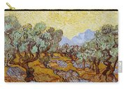 Olive Trees With Yellow Sky And Sun Carry-all Pouch
