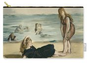 On The Beach Carry-all Pouch by Edouard Manet