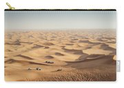 One 4x4 Vehicle Off-roading In The Red Sand Dunes Of Dubai Emirates, United Arab Emirates Carry-all Pouch