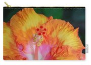 Orange Hibiscus Carry-all Pouch