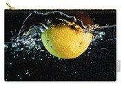 Orange Splashing In Water Carry-all Pouch