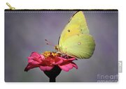 Orange Sulphur Butterfly Portrait Carry-all Pouch