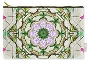 Orchids And Stone Wall Kaleidoscope 1764 Carry-all Pouch