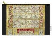 Ottoman Calendar, 19th Century Carry-all Pouch