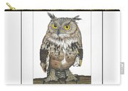 Owl In Pose Carry-all Pouch