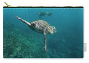 Pacific Green Sea Turtle Chelonia Mydas Carry-all Pouch
