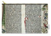 Page Of The Gutenberg Bible, 1455 Carry-all Pouch