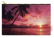 Palms Against Pink Sunset Carry-all Pouch
