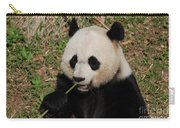 Panda Bear Holding On To Bamboo While Eating  Carry-all Pouch