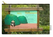 Panda Sign In Wolong Nature Reserve Carry-all Pouch