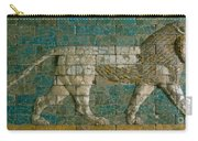 Panel With Striding Lion Carry-all Pouch