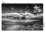 Panorama Of A Valley In Utah Desert With Blue Sky Carry-all Pouch