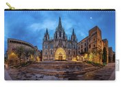 Panorama Of Cathedral Of The Holy Cross And Saint Eulalia In The Carry-all Pouch