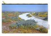 Panoramic View Of White Salt And Desert Carry-all Pouch