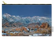 Panoramic Winter Morning Alabama Hills Eastern Sierras California Carry-all Pouch