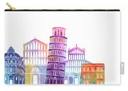 Barcelona Landmarks Watercolor Poster Carry-all Pouch