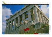 Parthenon With Poppies Carry-all Pouch
