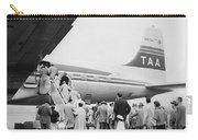 Passengers Boarding Airplane Carry-all Pouch by Underwood Archives