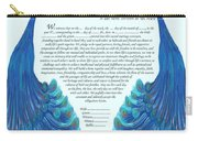 Peacocs Ketubah Carry-all Pouch