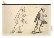 Peasant With Hat In Hand Carry-all Pouch