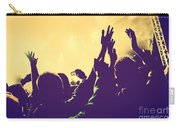 People With Hands Up In Night Club Carry-all Pouch