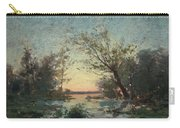Per Ekstrom, French Landscape In Sunset. Carry-all Pouch