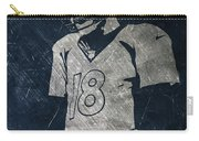 Peyton Manning Broncos Carry-all Pouch by Joe Hamilton