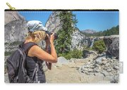 Photographer In Yosemite Waterfalls Carry-all Pouch