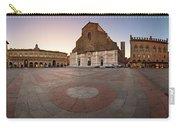 Piazza Maggiore And San Petronio Basilica In The Morning, Bologna, Emilia-romanga, Italy Carry-all Pouch