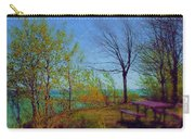 Picnic Table By The Lake Carry-all Pouch