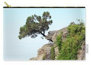 Pine Tree On A Rock Carry-all Pouch