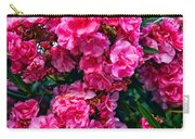 Pink Flowers Green Leaves Carry-all Pouch