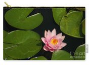 Pink Lotus Waterlily Carry-all Pouch