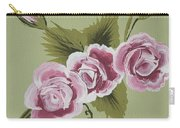 Pink Miniature Roses Carry-all Pouch