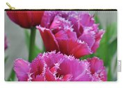 Pink Parrot Tulips Carry-all Pouch