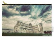 Pisa Cathedral With The Leaning Tower Of Pisa, Tuscany, Italy. Vintage Carry-all Pouch