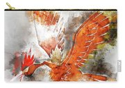 Pokemon Fearow Abstract Portrait - By Diana Van   Carry-all Pouch