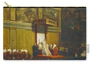 Pope Pius Vii In The Sistine Chapel Carry-all Pouch
