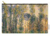 Poplars At Giverny, Sunrise Carry-all Pouch