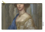 Portrait Of A Woman As Saint Agnes Carry-all Pouch