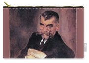 Portrait Of Aa Stahovich 1911 Valentin Serov Carry-all Pouch