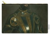 Portrait Of Alfonso D'avalos Marquis Of Vasto In Armor With A Page Carry-all Pouch