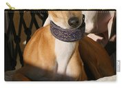 Portrait Of An Italian Greyhound Carry-all Pouch