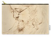 Portrait Of Samuel Palmer Head And Shoulders Carry-all Pouch