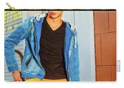 Portrait Of Young Man In New York Carry-all Pouch