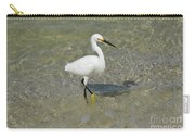 Posing White Egret Bird Carry-all Pouch
